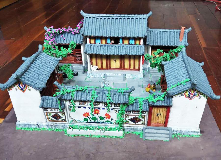 Dough modelling made by Wu Yingde
