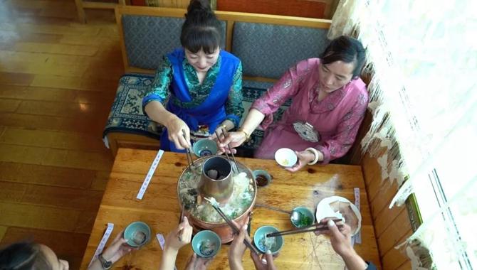 a copper hot pot in Deqin county od Diqing