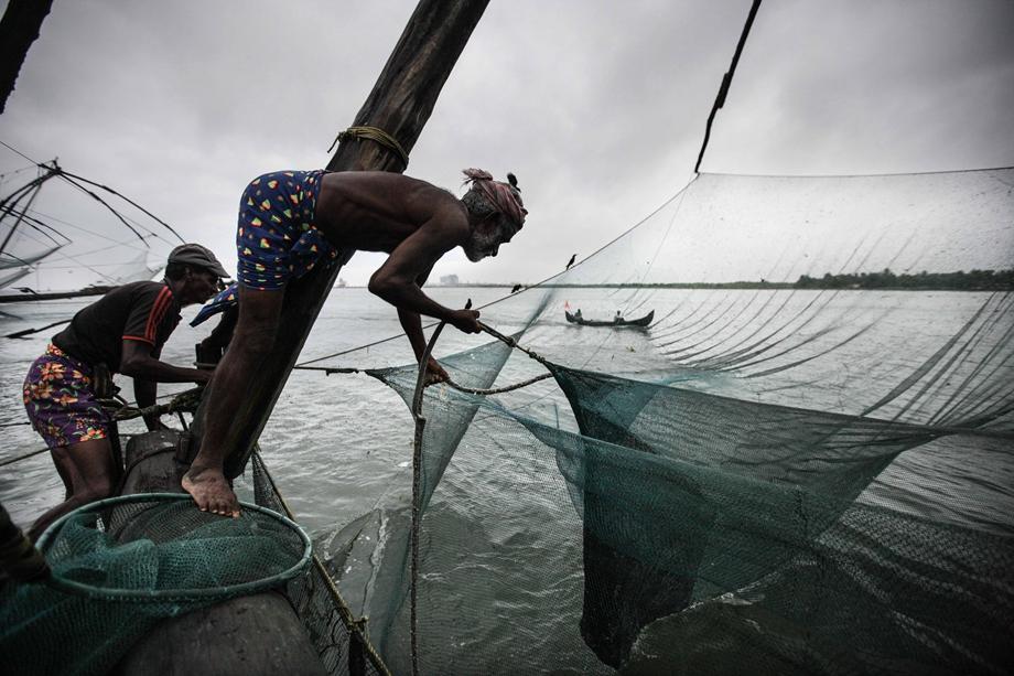 """The fishing method of""""Zheng He lifting the fishnet"""""""