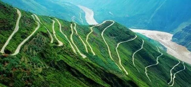 Yongshan winding road in Zhaotong