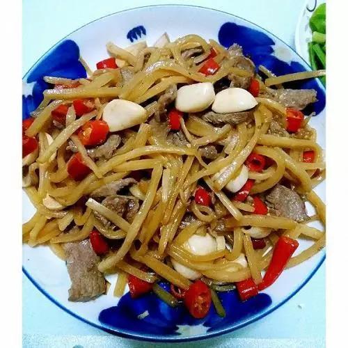 Sour bamboo shoots dish in Yunnan