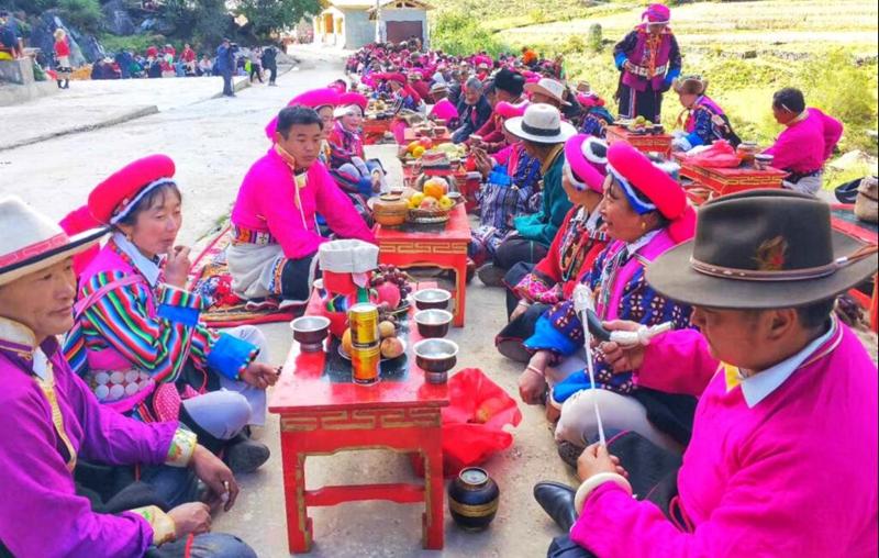 Mountain-worshiping in Niru Village of Shangri-la, Diqing, Yunnan