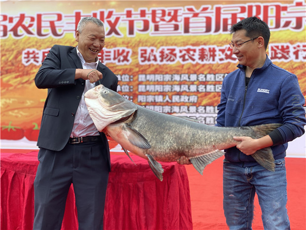 The second farmer's harvest festival and the first fishing festival at Yangzong Lake of Kunming