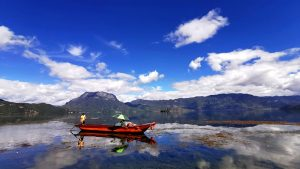 The crystal-clear Lugu Lake in lijiang