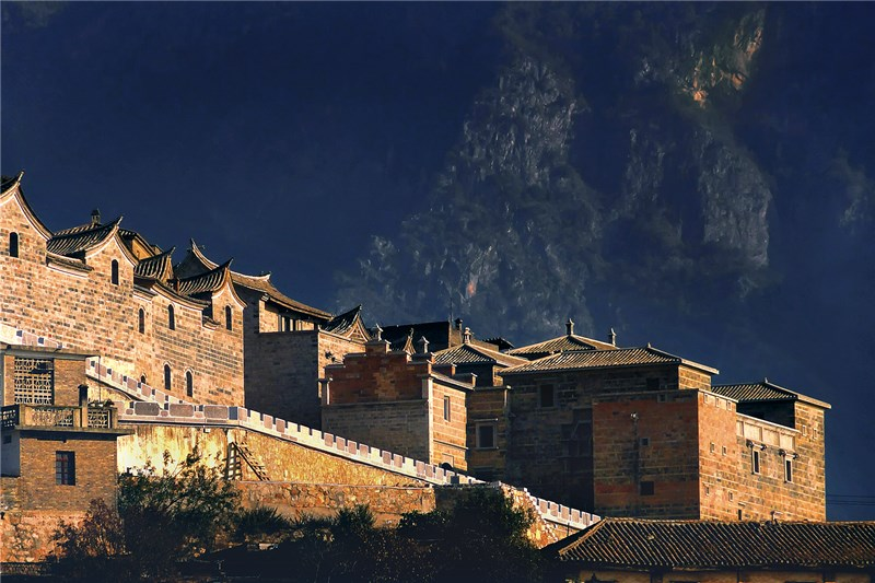 Yisa Old Town in Honghe County of Honghe, Yunnan