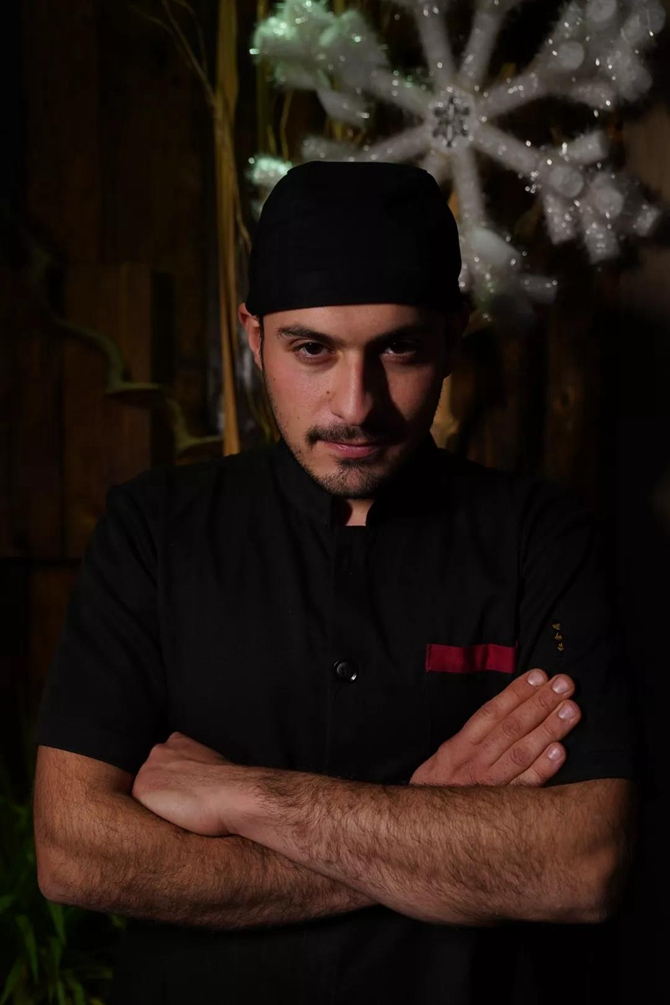 Mikail, the young and handsome chef in Turkish restaurant, Kunming