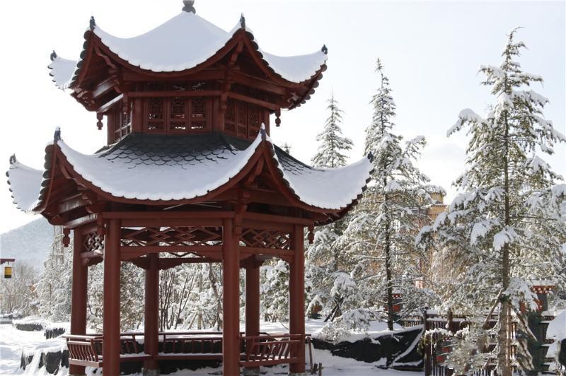 Snowscape of Shambhala Park in Shangri-La