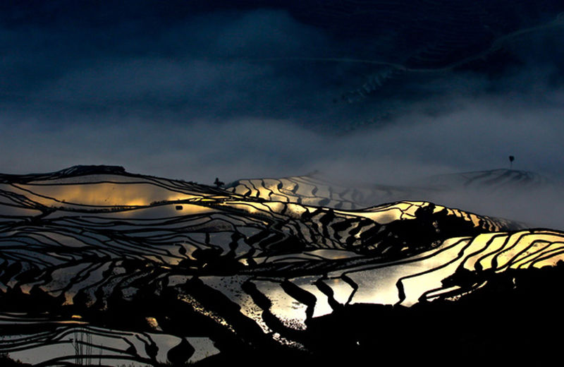 Bada Rice Terraces in Yuanyang County, Honghe