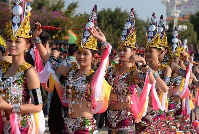 Munaozongge Festival of Jingpo Ethnic Minority in Longchuan County, Dehong