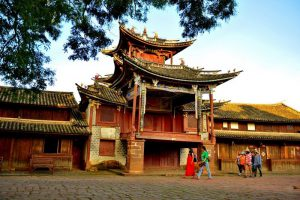 Shaxi Old Town in Jianchuan County,Dali