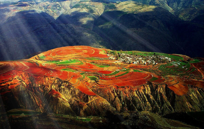 Luoxiagou Valley Scenic Spot of Dongchuan Red Land, Kunming