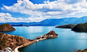 Lige Island in Lugu Lake, Lijiang