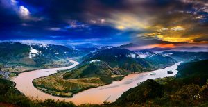 The First Bend of Yangtze River in Lijiang.