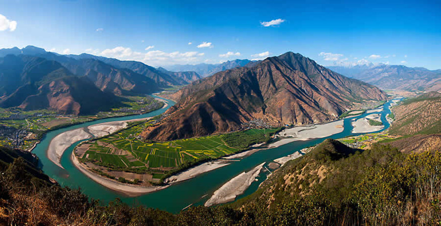 The First Bend of Yangtze River in Lijiang