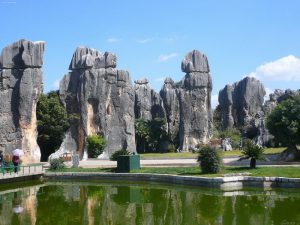 The Stone Forest in Kunming.